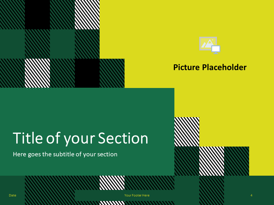Free TARTAN Abstract Template for PowerPoint - Title Section (variant 1)