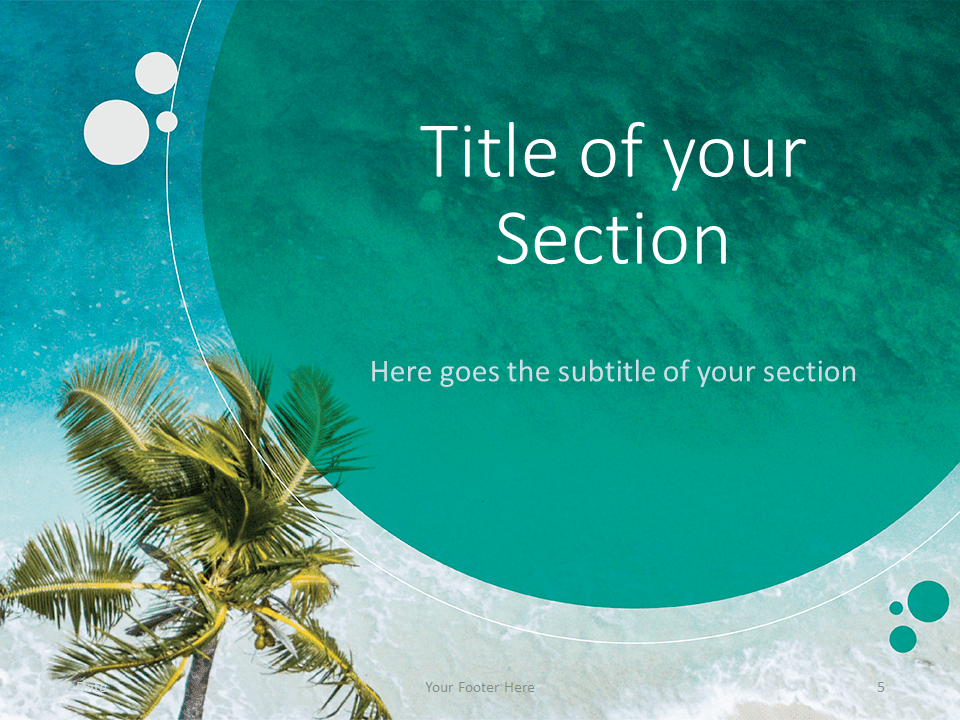 Free Beach Template for PowerPoint - Title Section (variant 2)