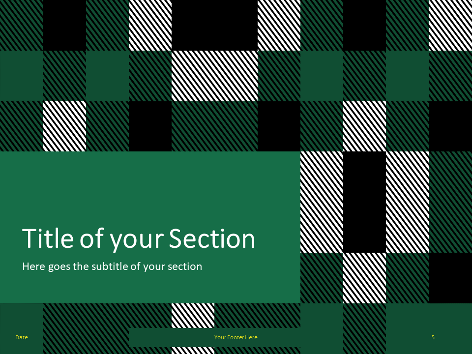 Free TARTAN Abstract Template for PowerPoint - Title Section (variant 2)