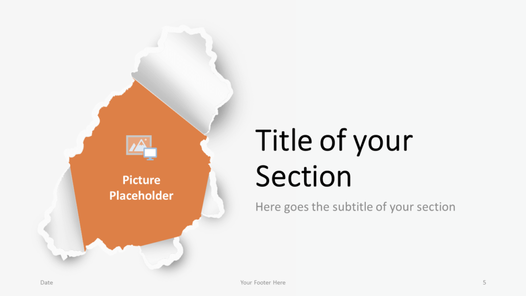 Free Torn Paper Creative Template for Google Slides - Title Section (variant 2)