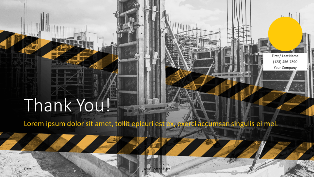 Free Construction Template for Google Slides - Closing