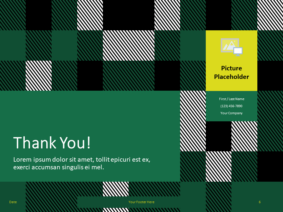 Free TARTAN Abstract Template for PowerPoint - Template Closing