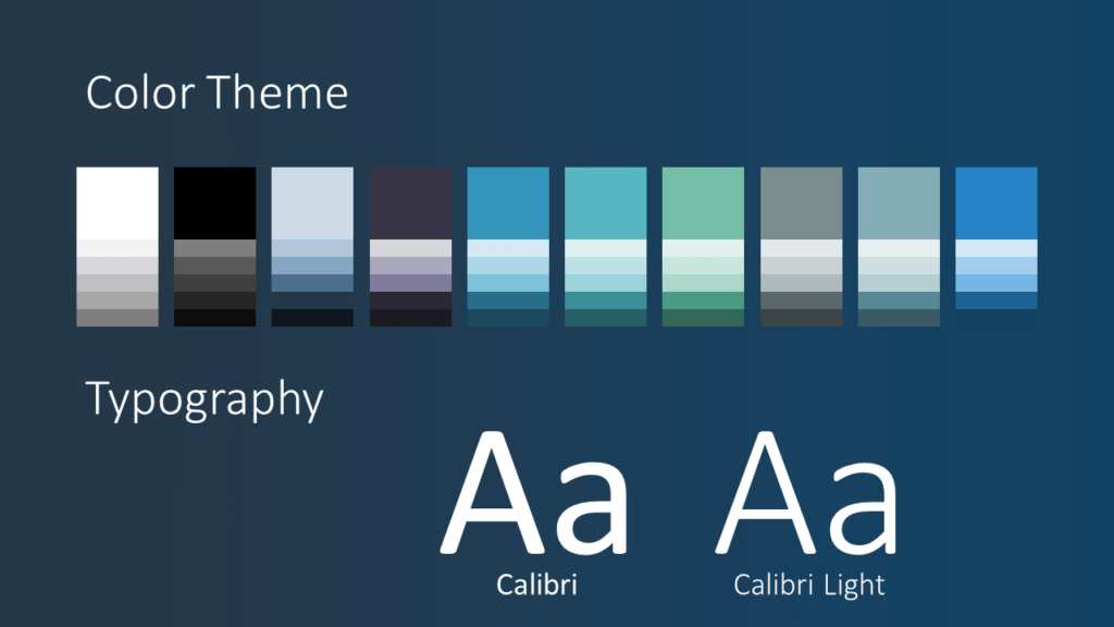 Free SCIENCE & TECH Template for Google Slides - Colors Fonts
