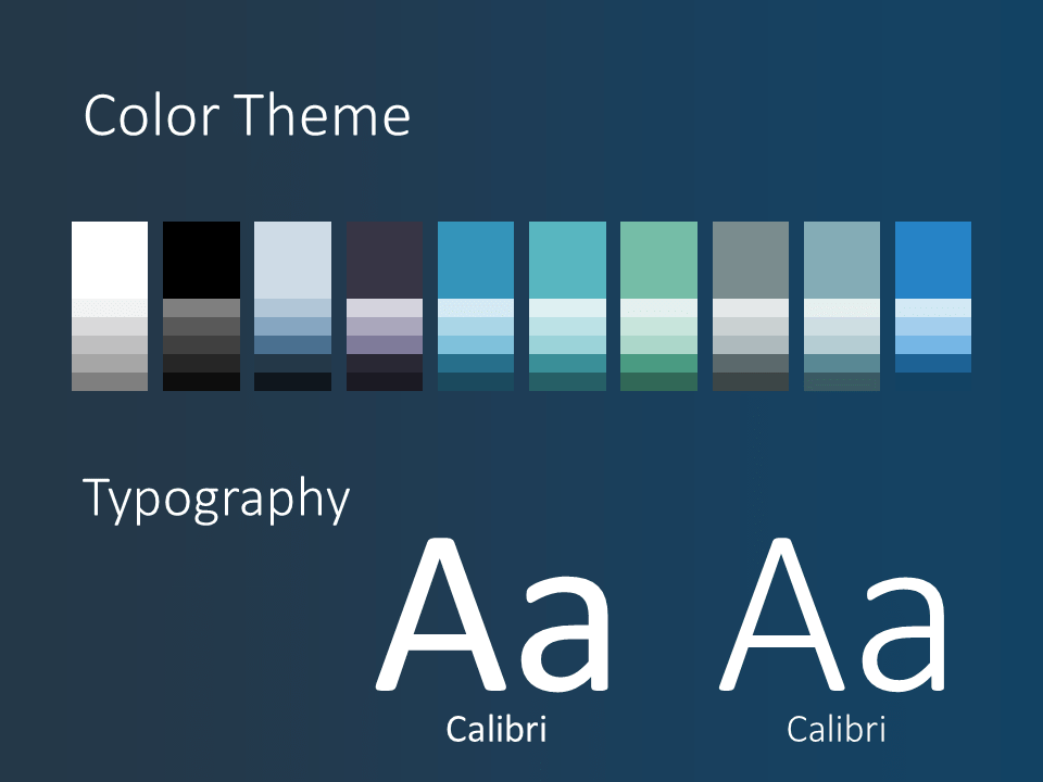 Free SCIENCE & TECH Template for PowerPoint - Colors Fonts