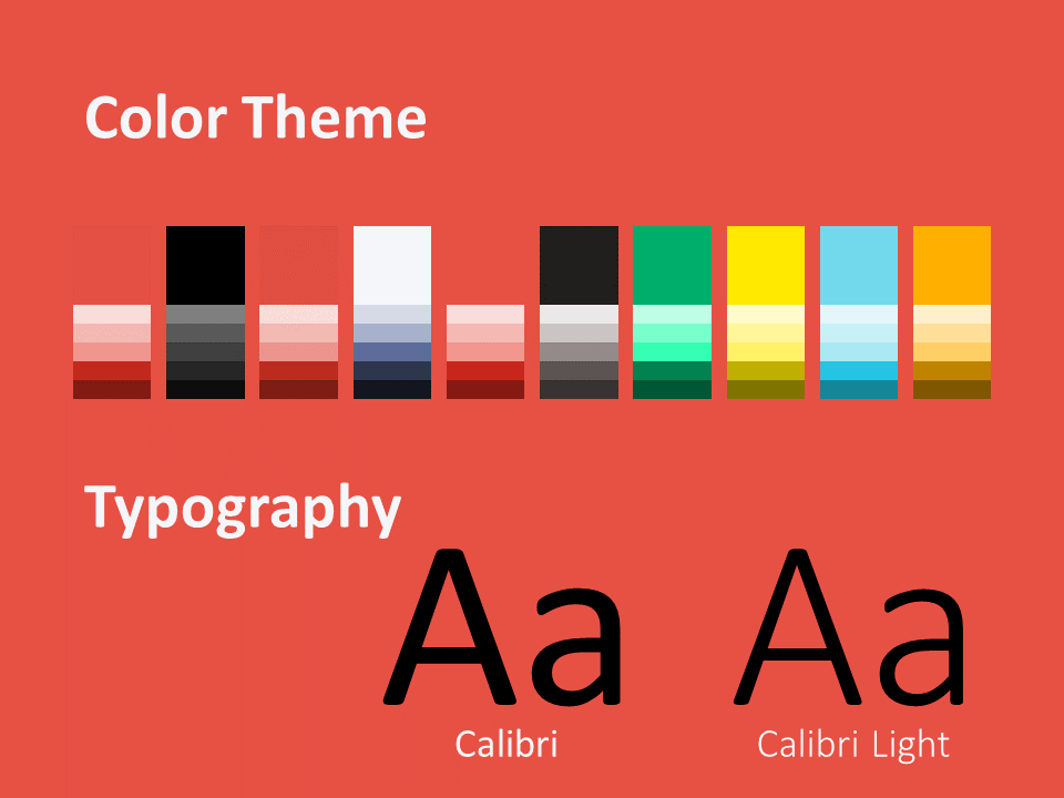 Free Sonar Creative Template for PowerPoint - Colors Fonts