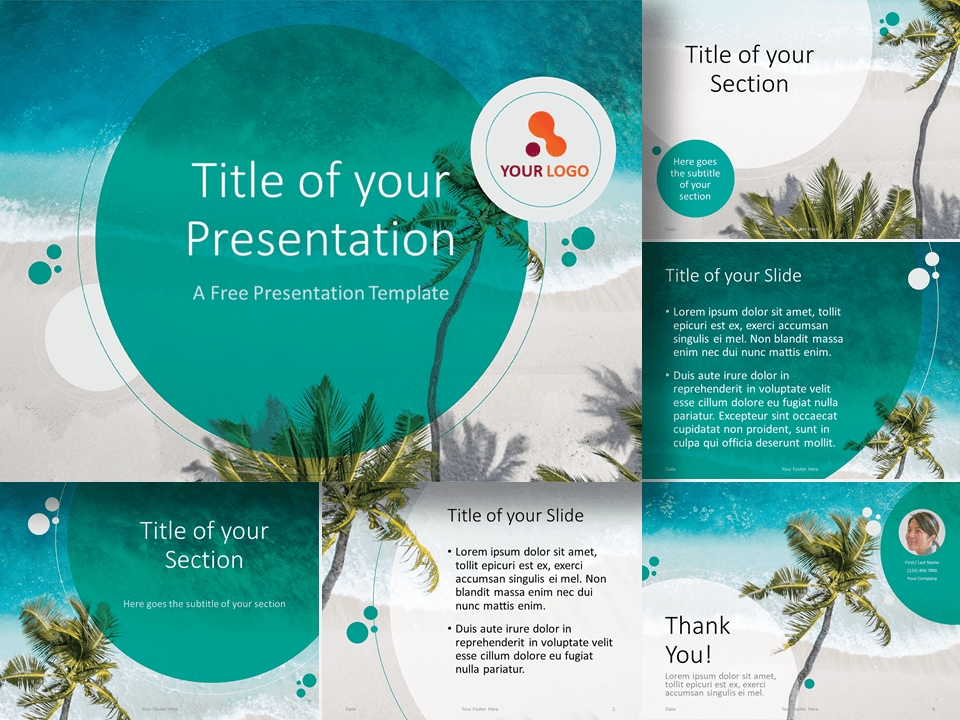Free Beach Template for Google Slides and PowerPoint
