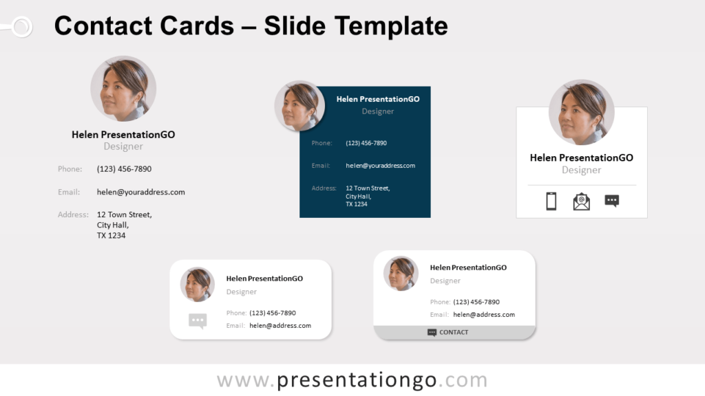 Free Contact Cards for PowerPoint and Google Slides