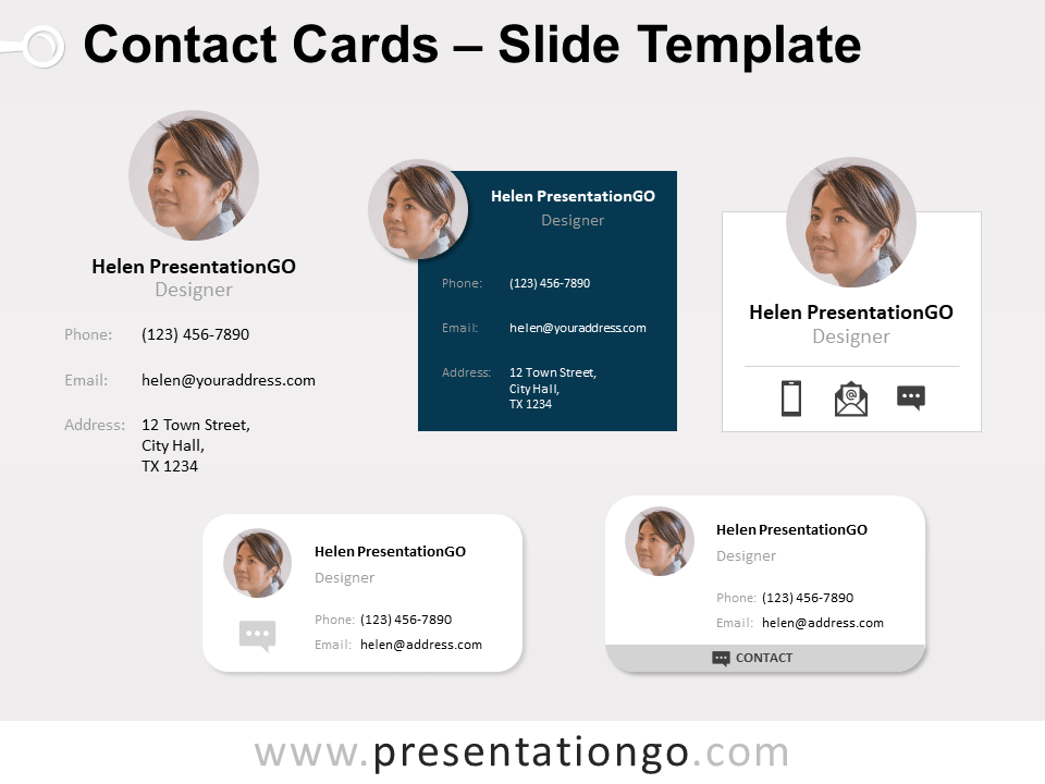 Free Contact Cards for PowerPoint