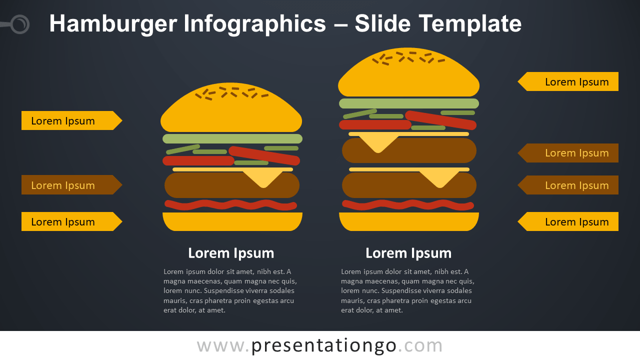 Free Hamburger Infographics Diagram for PowerPoint and Google Slides