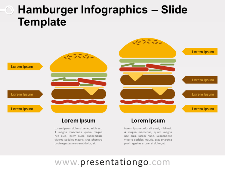 Free Hamburger Infographics for PowerPoint