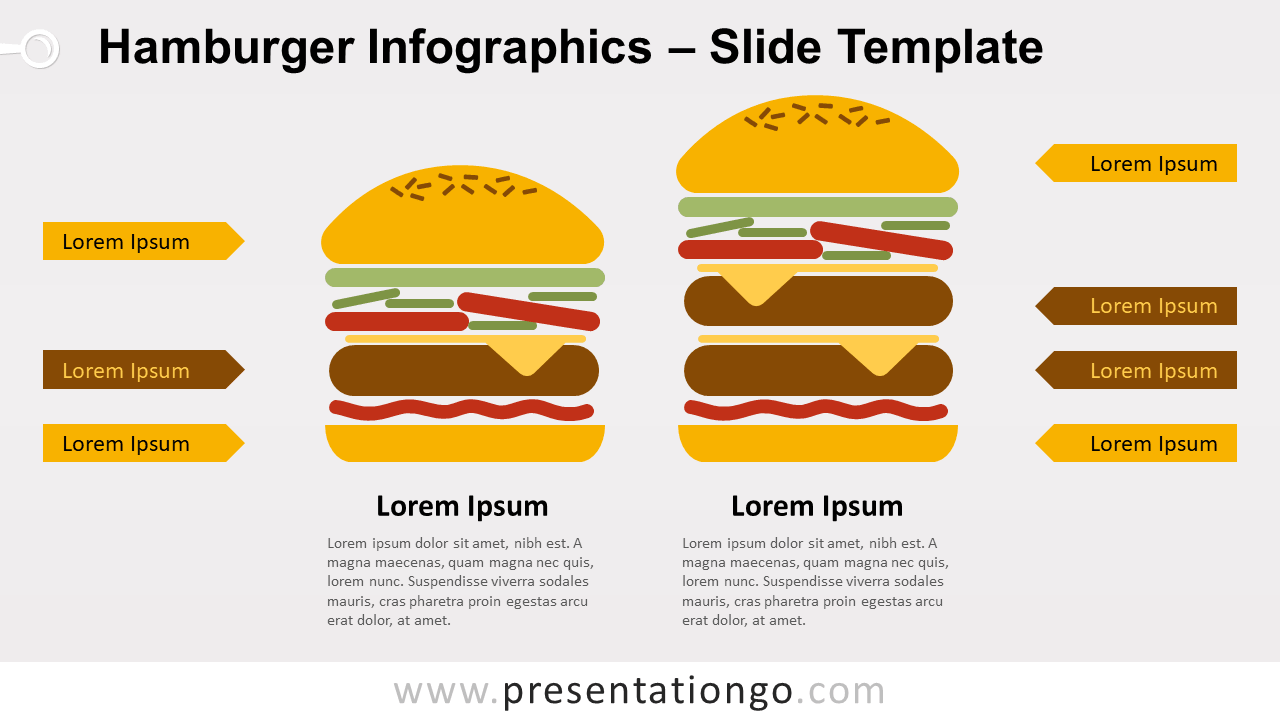 Free Hamburger Infographics for PowerPoint and Google Slides