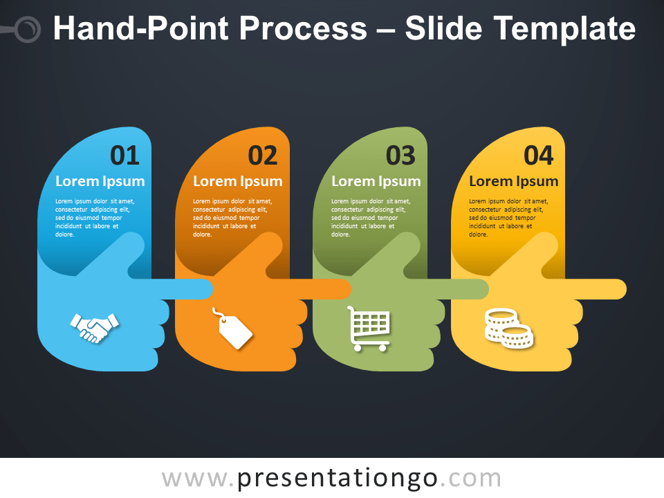 Free Hand-Point Process Infographic for PowerPoint