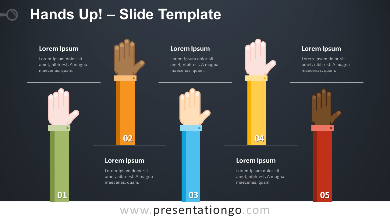 Free Hands Up Infographics for PowerPoint and Google Slides