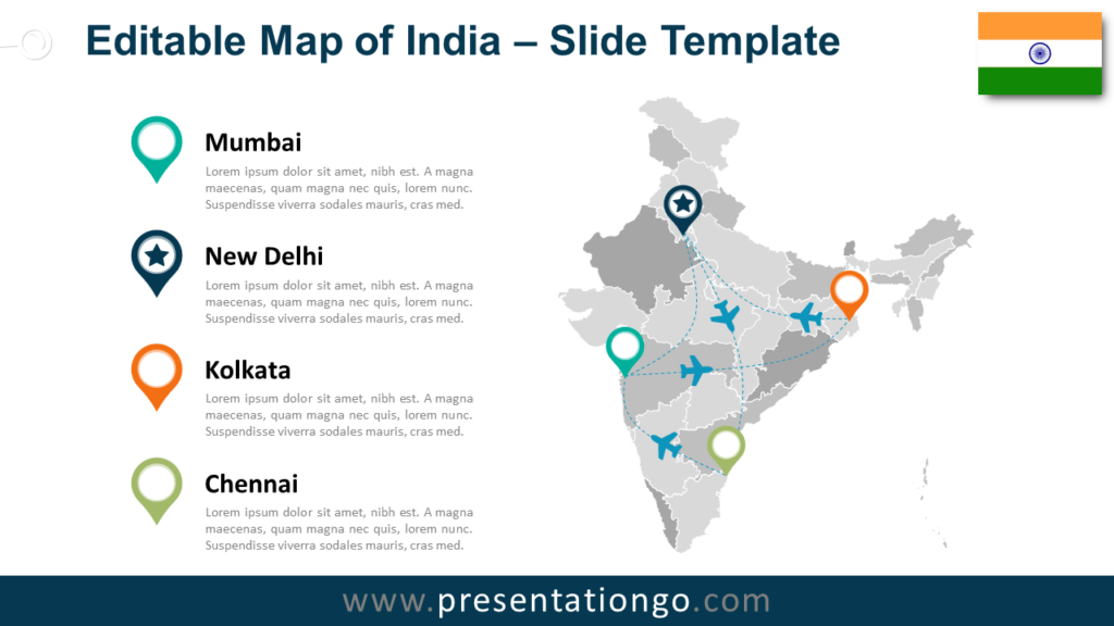 India Map for PowerPoint and Google Slides