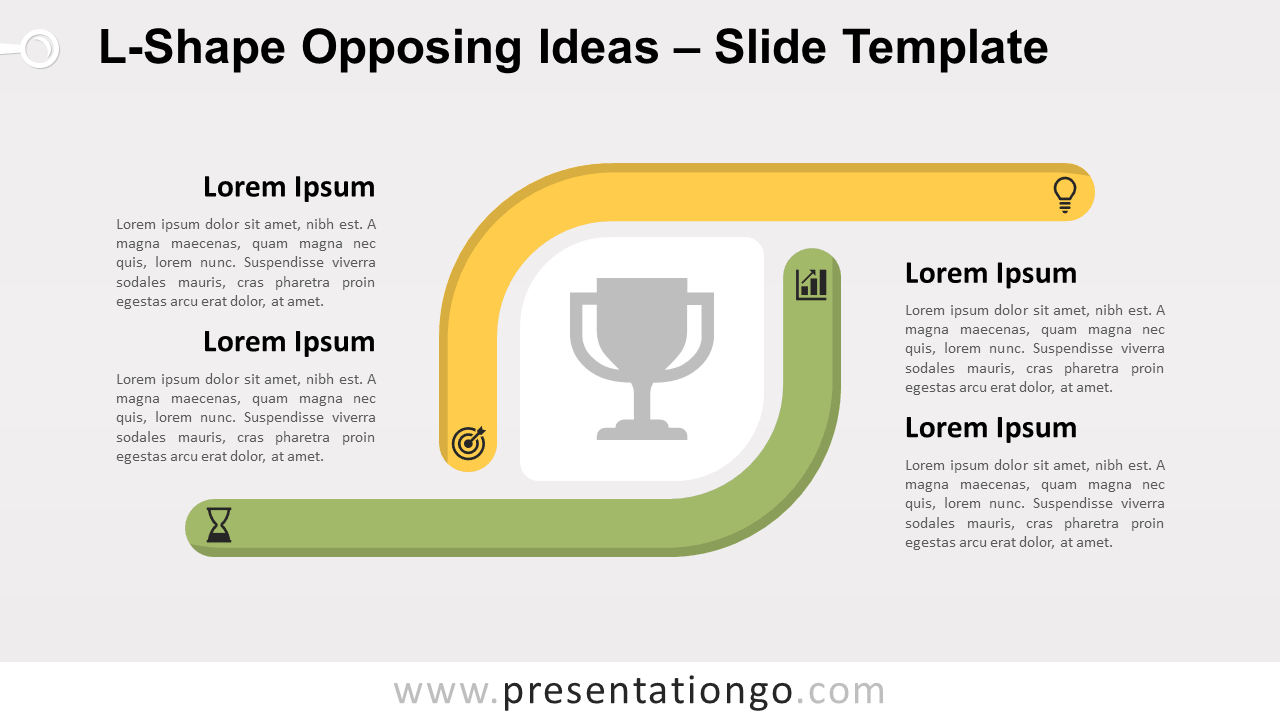 Free L-Shape Opposing Ideas for PowerPoint and Google Slides