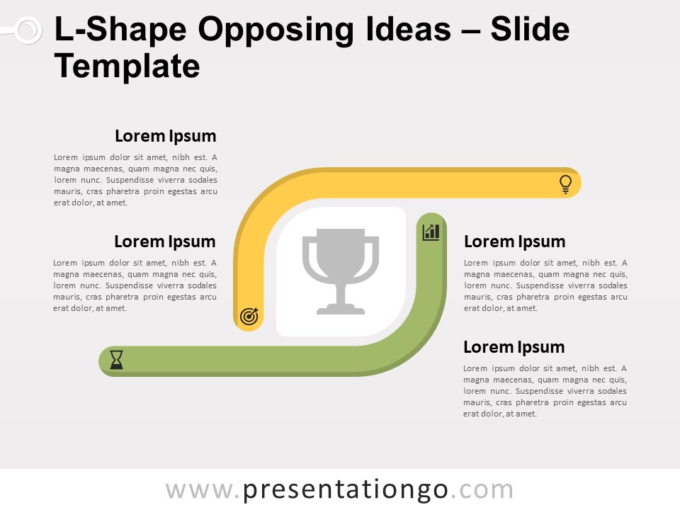 Free L-Shape Opposing Ideas for PowerPoint