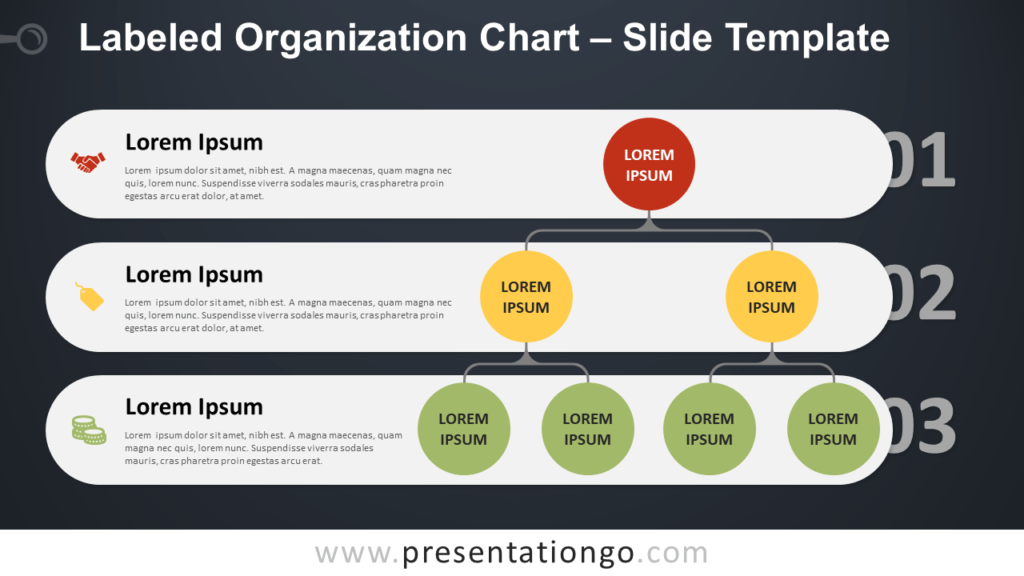 Free Labeled Organization Chart Diagram for PowerPoint and Google Slides
