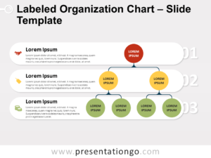 Free Labeled Organization Chart for PowerPoint