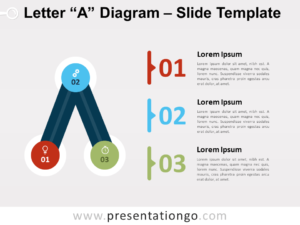 Free Letter A Diagram for PowerPoint