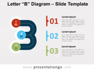 Free Letter B Diagram for PowerPoint