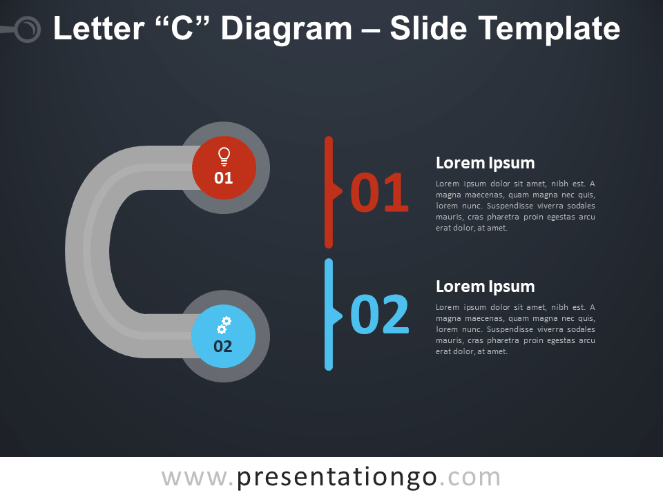 Free Letter C Diagram Infographic for PowerPoint