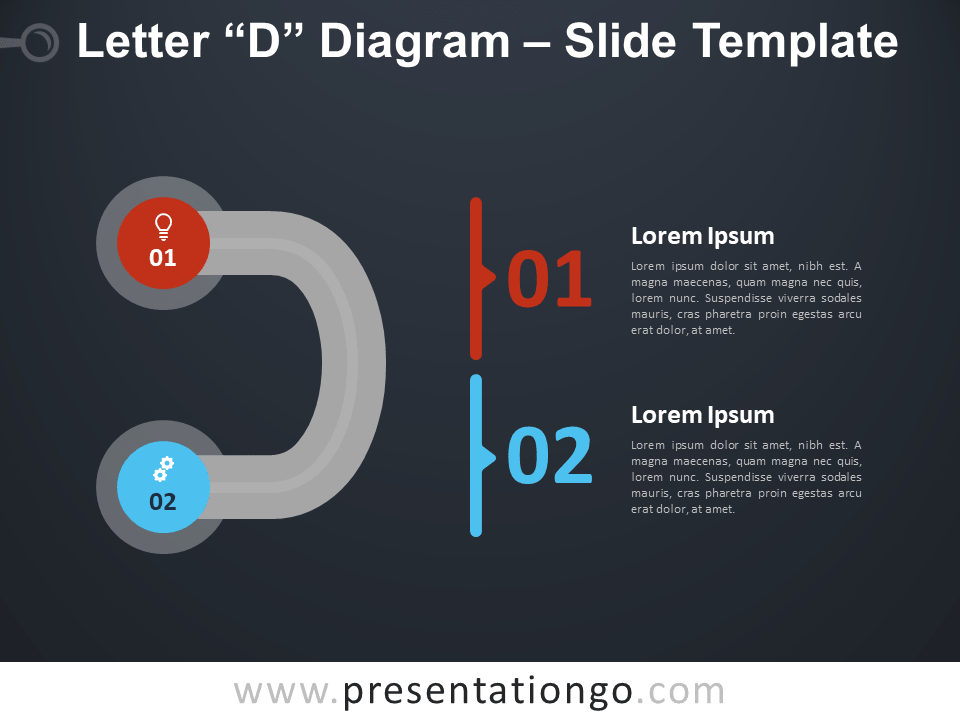 Free Letter D Diagram Infographic for PowerPoint