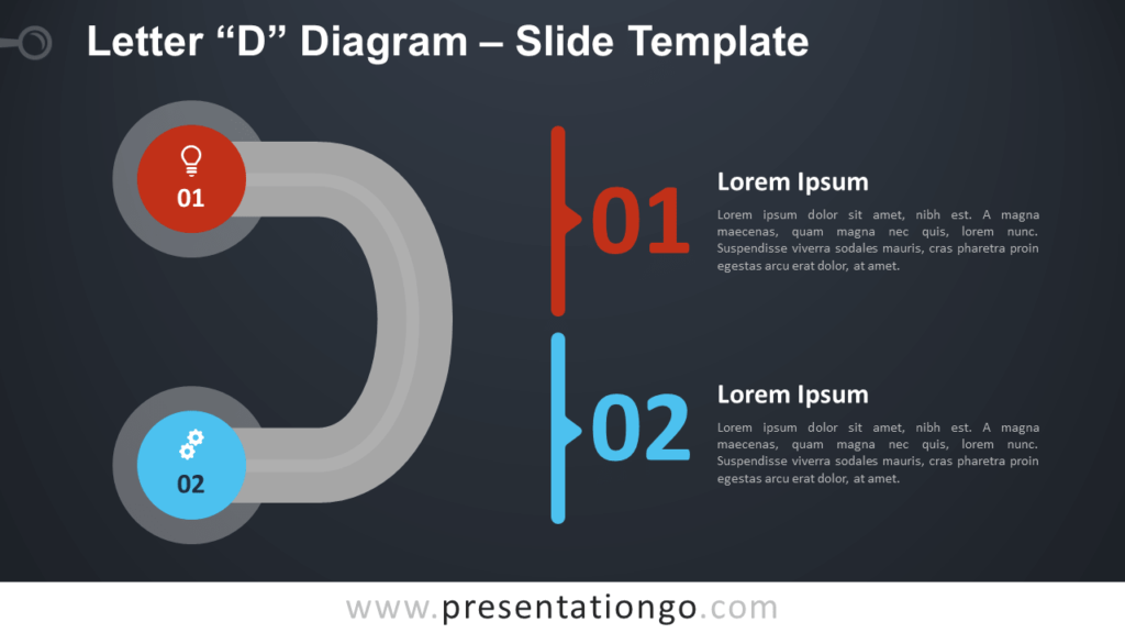 Free Letter D Diagram Infographics for PowerPoint and Google Slides