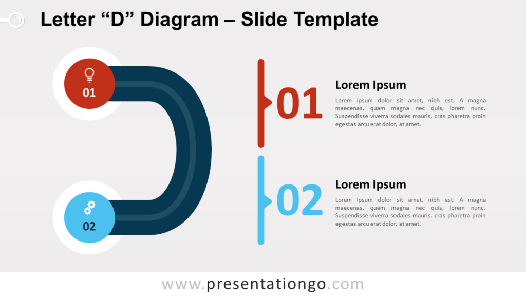 Free Letter D Diagram for PowerPoint and Google Slides