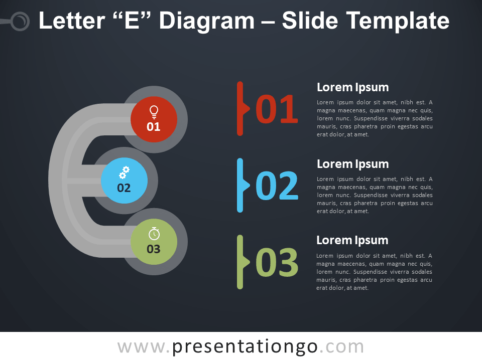 Free Letter E Diagram Infographic for PowerPoint