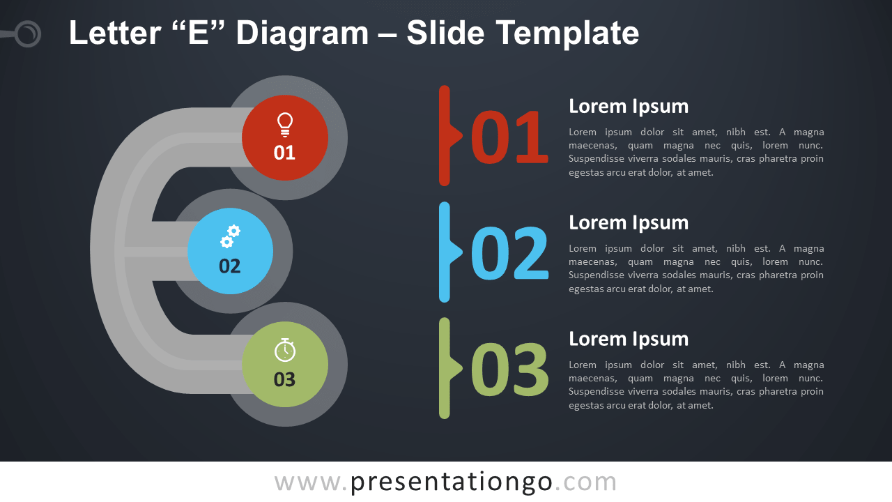 Free Letter E Diagram Infographics for PowerPoint and Google Slides