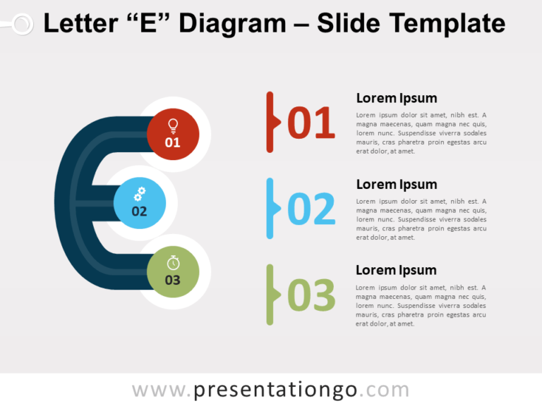 Free Letter E Diagram for PowerPoint