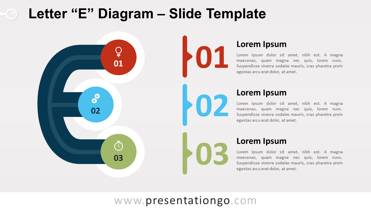 Free Letter E Diagram for PowerPoint and Google Slides