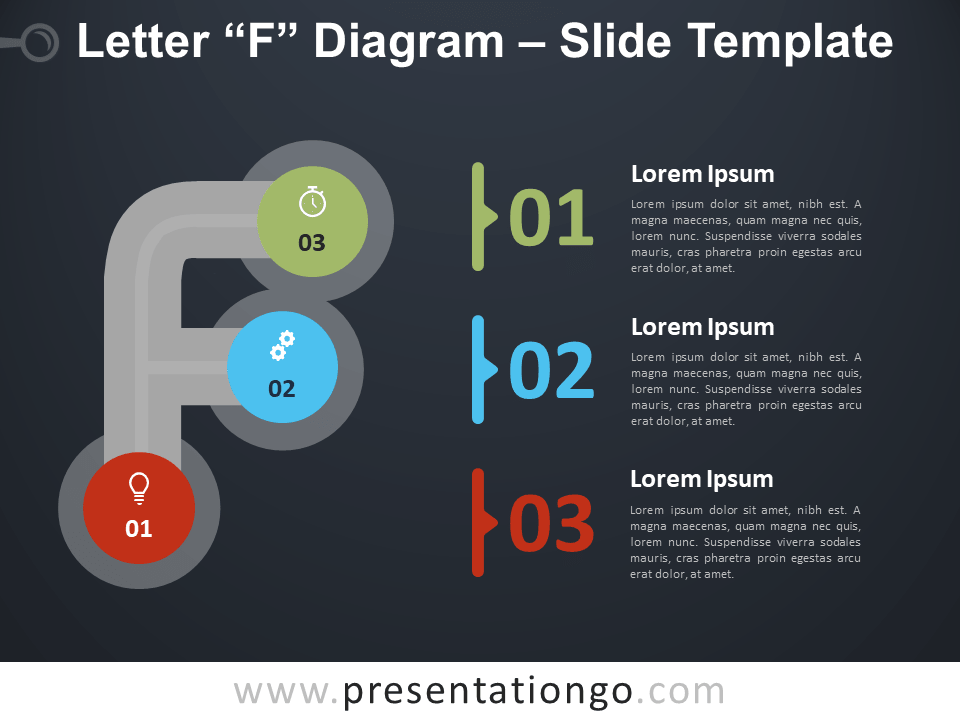 Free Letter F Diagram Infographic for PowerPoint