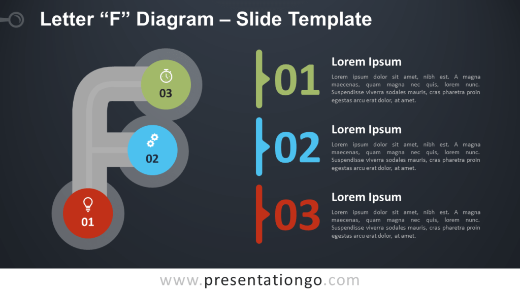 Free Letter F Diagram Infographics for PowerPoint and Google Slides