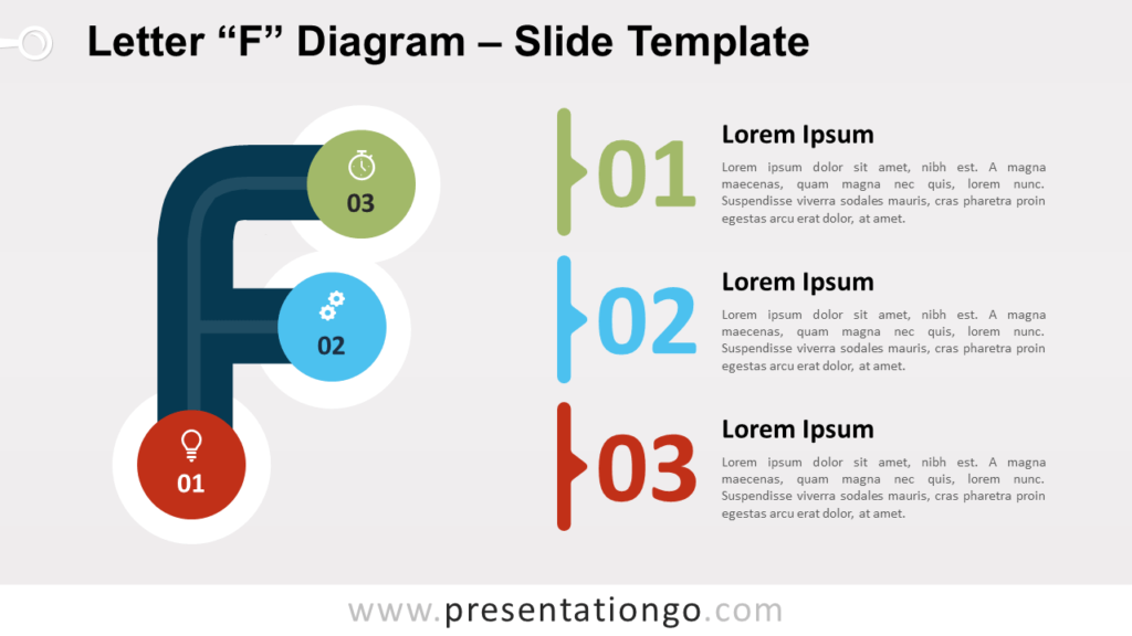 Free Letter F Diagram for PowerPoint and Google Slides