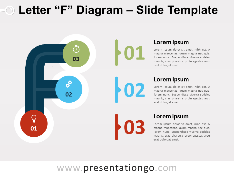 Free Letter F Diagram for PowerPoint