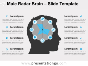 Free Male Radar Brain for PowerPoint