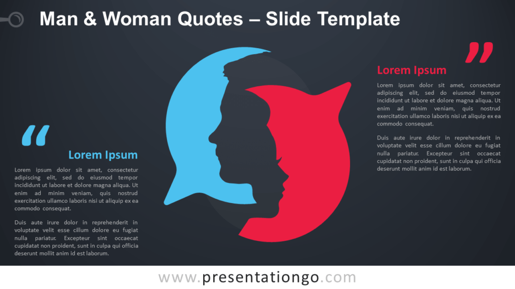Free Man and Woman Quotes Infographic for PowerPoint and Google Slides