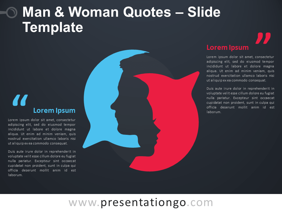 Free Man and Woman Quotes Infographic for PowerPoint