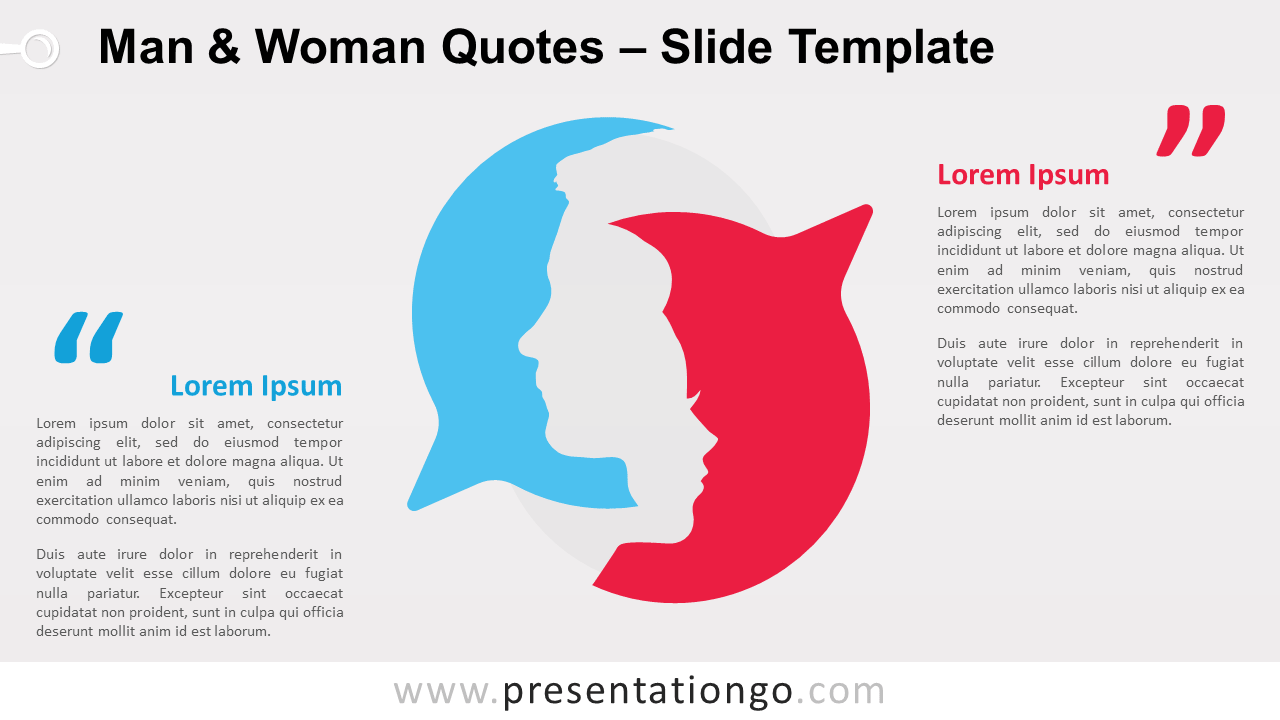 Free Man and Woman Quotes for PowerPoint and Google Slides