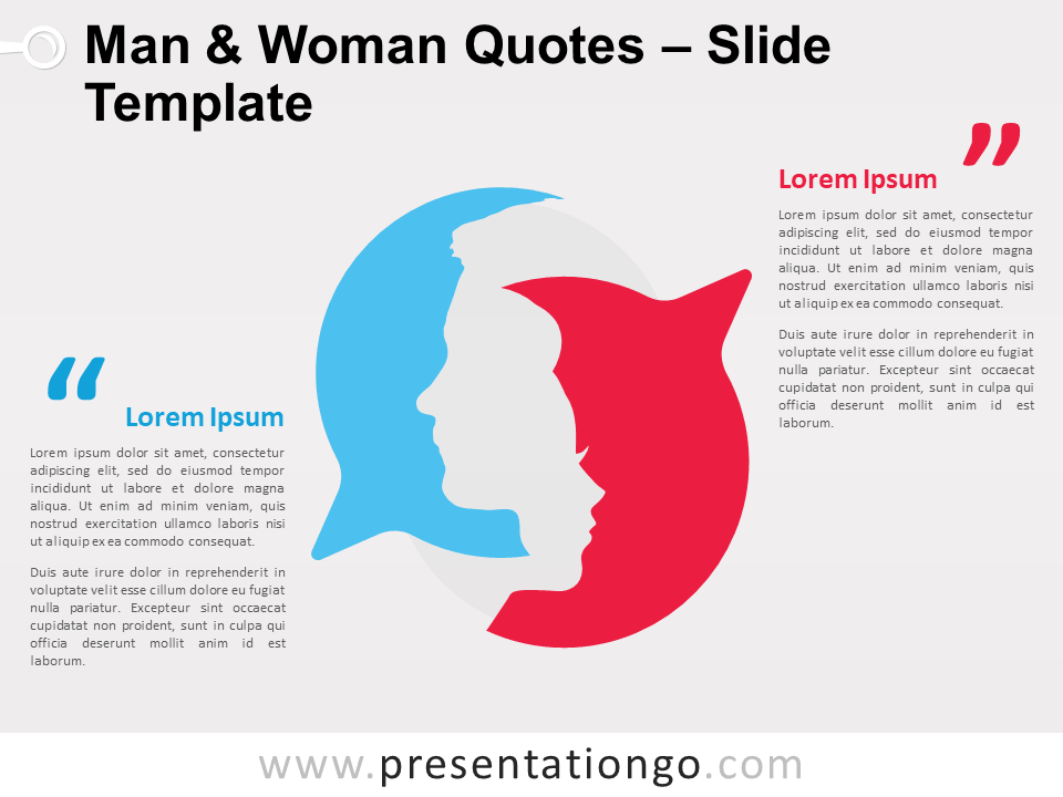 Free Man and Woman Quotes for PowerPoint
