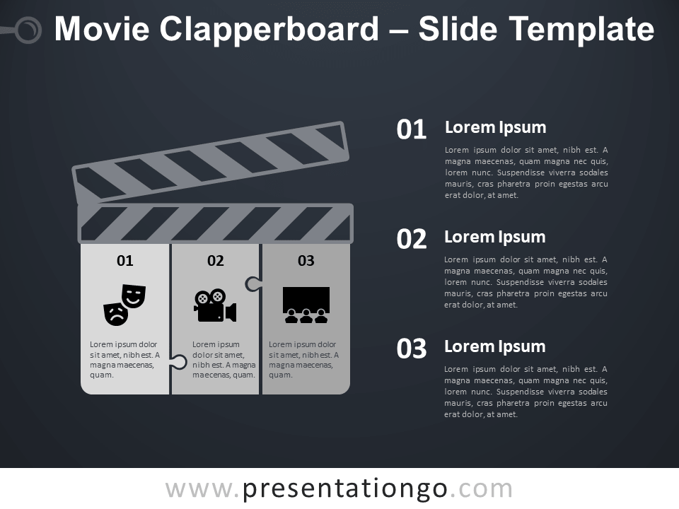 Free Movie Clapperboard Infographic for PowerPoint