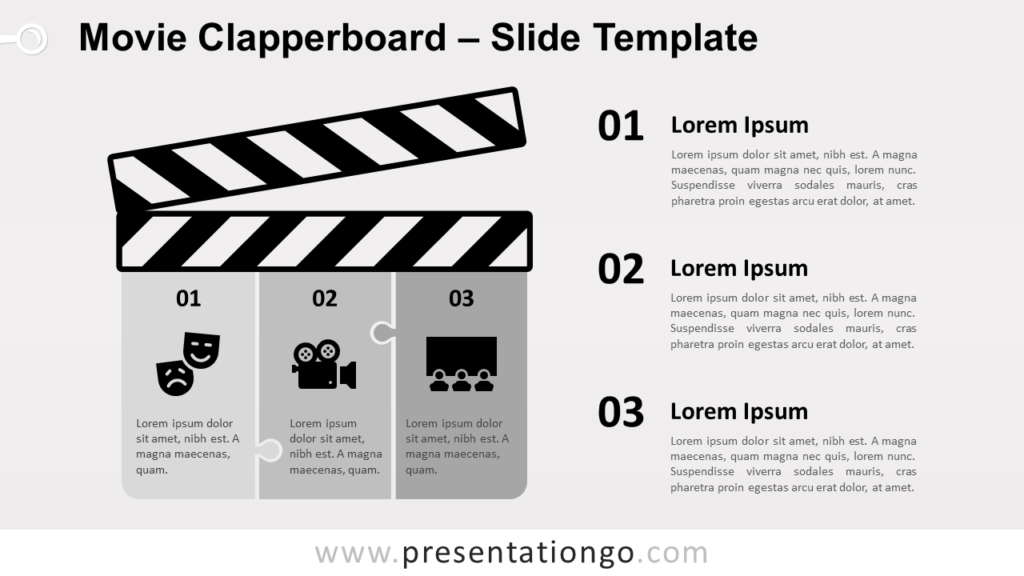 Free Movie Clapperboard for PowerPoint and Google Slides