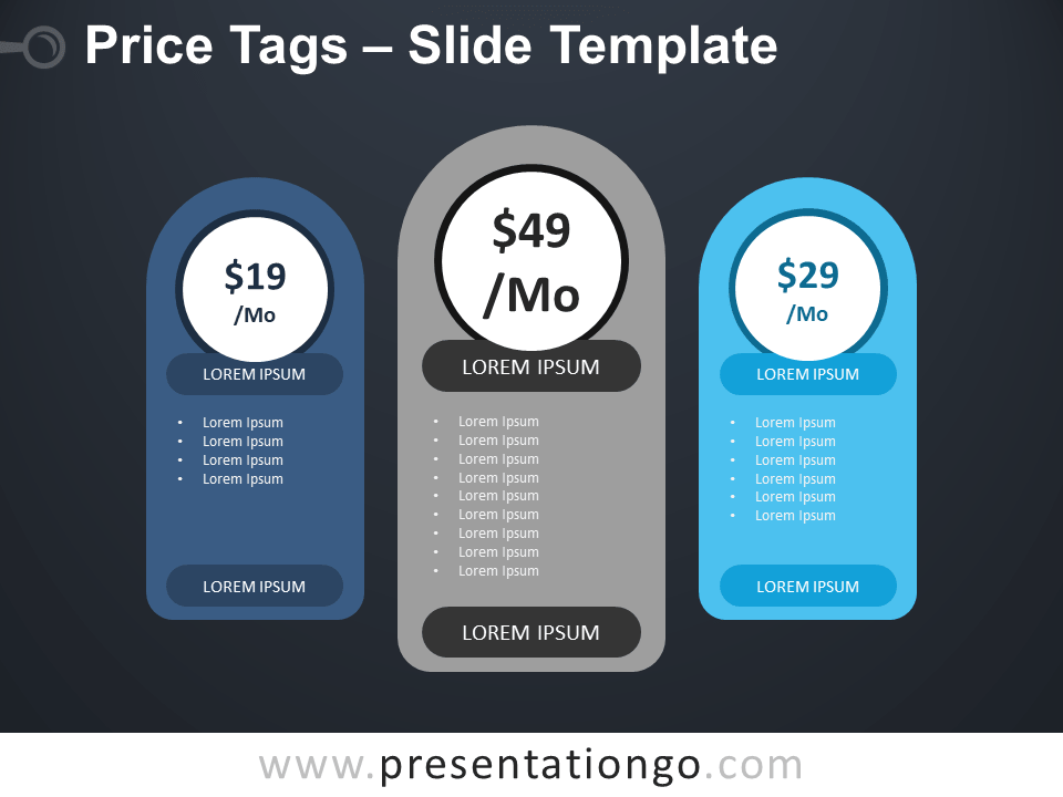 Free Price Tags Table for PowerPoint