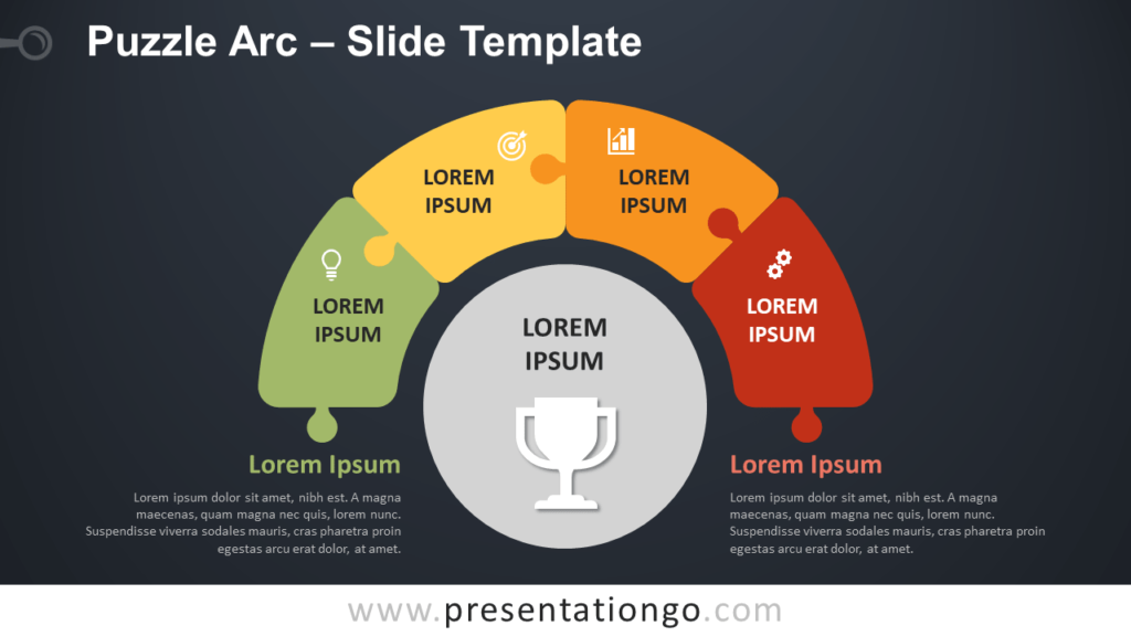 Free Puzzle Arc Diagram for PowerPoint and Google Slides