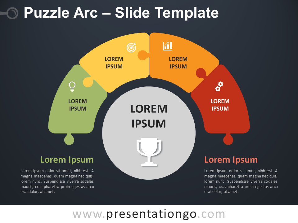 Free Puzzle Arc Diagram for PowerPoint