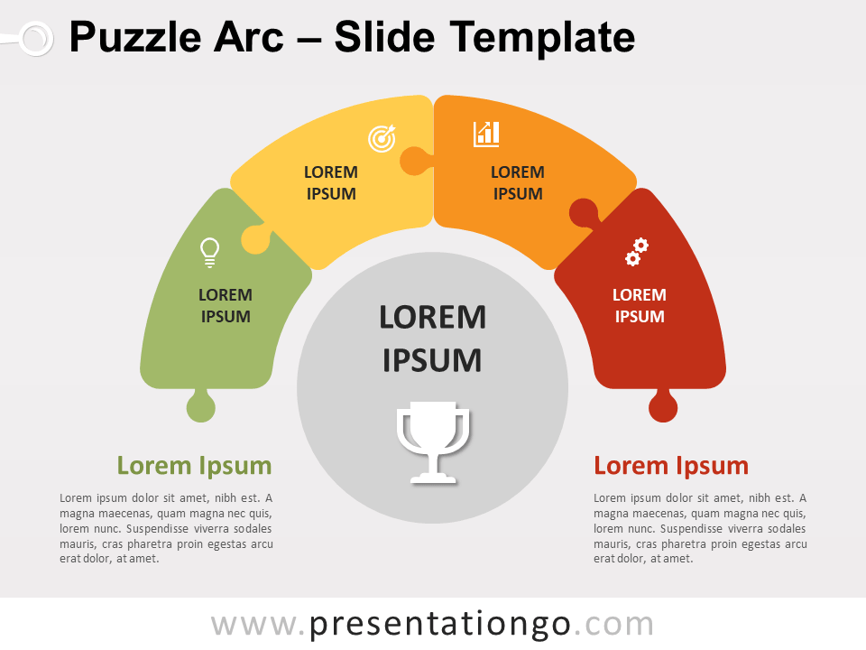 Free Puzzle Arc for PowerPoint