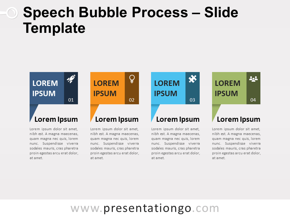 Free Speech Bubble Process for PowerPoint