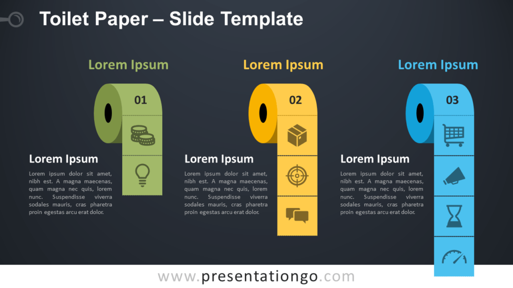 Free Toilet Paper Infographic for PowerPoint and Google Slides