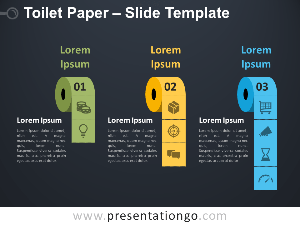 Free Toilet Paper Infographic for PowerPoint